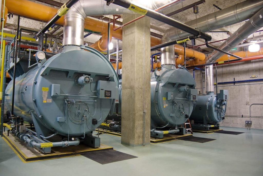 Industrial boilers of a factory