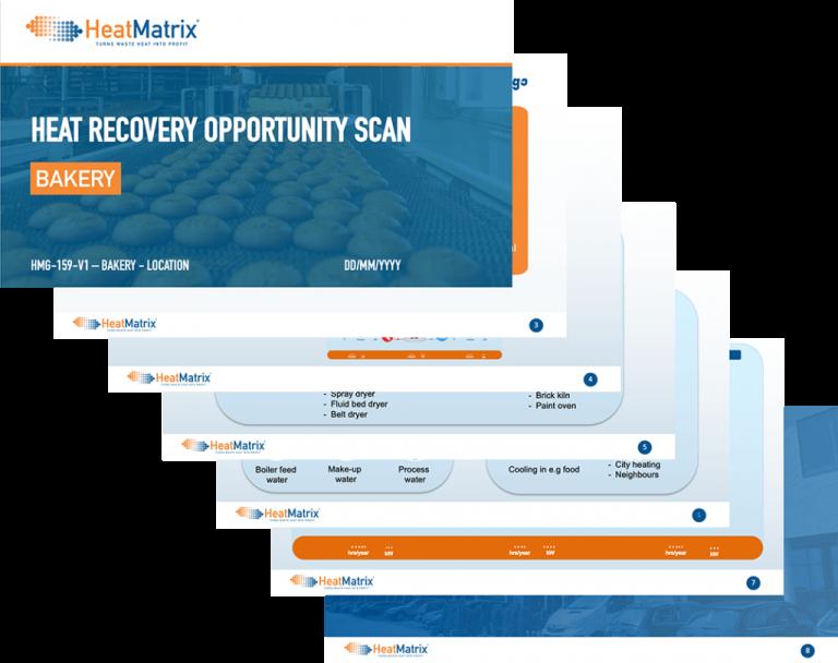 HeatMatrix heat recovery opportunity scan for industrial bakeries