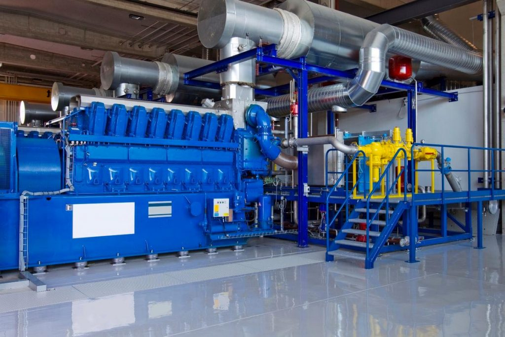 Combined Heat and Power (CHP) system of an industrial factory