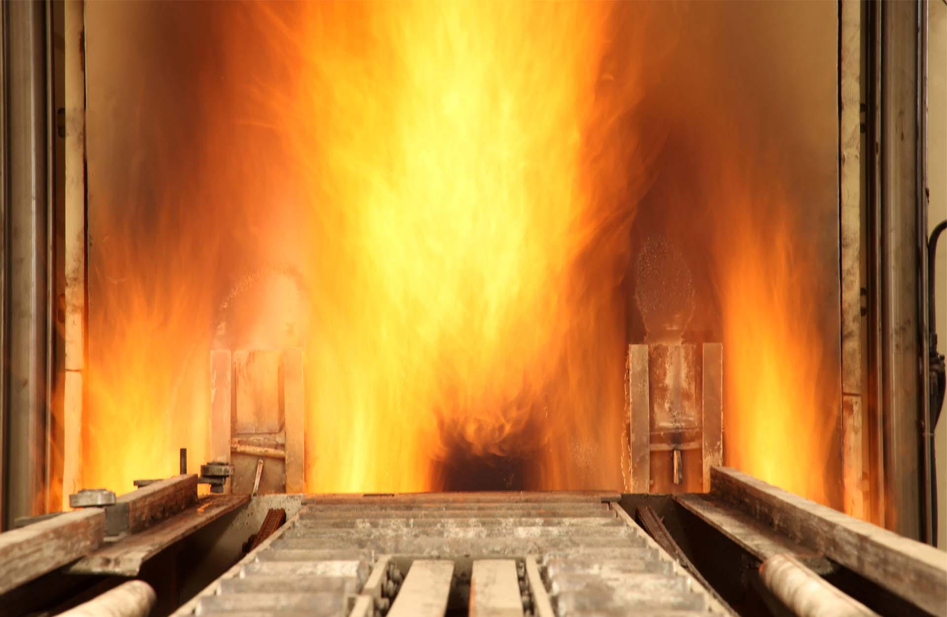 Kiln or Calciner flames