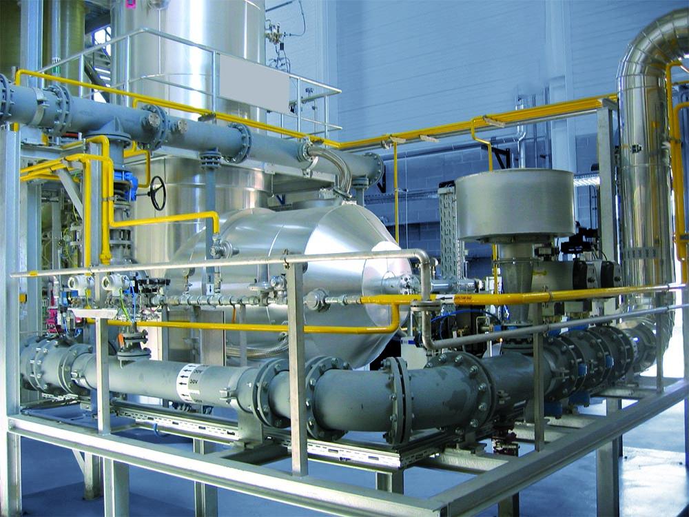 Incinerator of an industrial factory