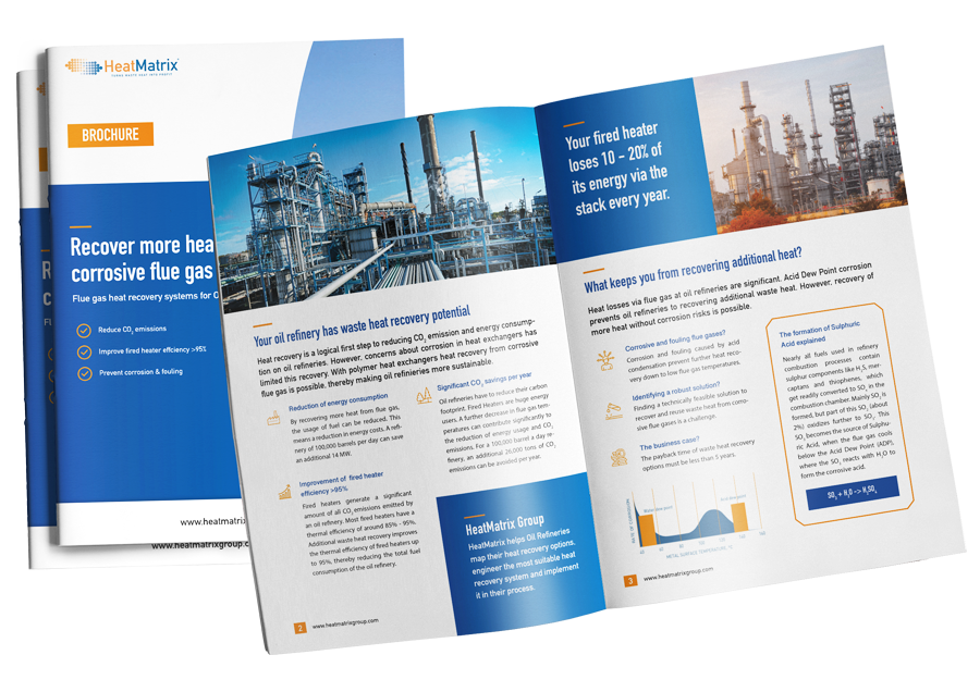 HeatMatrix brochure for flue gas heat recovery systems on oil refineries