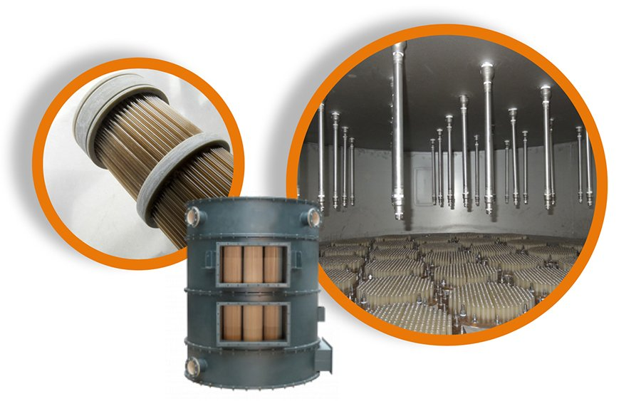 HeatMatrix in-situ cleaning system for polymer air preheaters